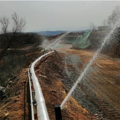 涇陽礦山道路噴淋降塵系統
