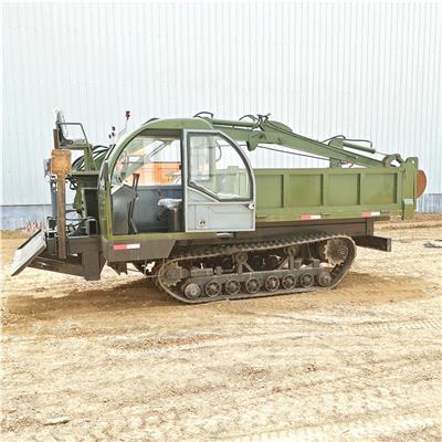 8噸履帶隨車挖 后橋式履帶隨車挖 山區泥地砂石運輸車 山星機械