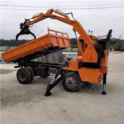 定做輪式隨車抓 帶抓木器自卸車15噸四驅工程隨車抓
