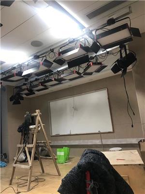 虛擬演播室燈光搭建布置工程 直播間藍綠箱錄音影