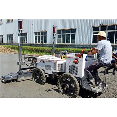 小型水泥路面整平機 華昂四輪混凝土激光自動整平機報價