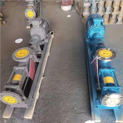 重仁G型單螺桿泵 顆粒雜質泵 污泥濃漿泵淤泥清理泵 高揚程輸送泵