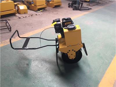 汽油機動力壓路機 手推式農村地基壓實機 無縫鋼管壓實機