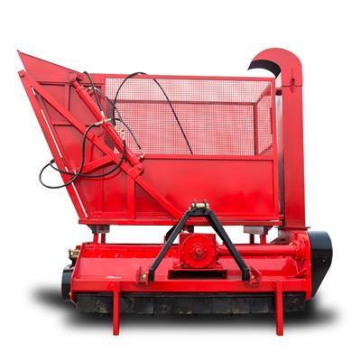 小型前置式回收機 雜草農作物秸稈回收機 自卸料倉粉碎收集機