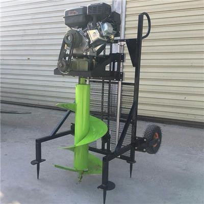果園汽油鉆坑機 便攜式打洞機 手提式汽油挖坑機