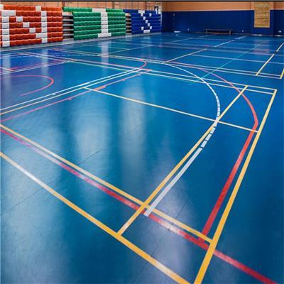 安裝 羽毛球pvc運動塑膠地板 兒童籃球場地膠