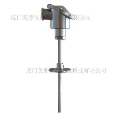法蘭連接式溫度傳感器 活動法蘭型溫度傳感器 pt100 pt1000 可變送輸出4-20ma