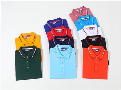 湖北團體T恤衫訂制,短袖工裝廣告T恤款式,翻領T恤廠家