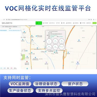 VOC 網格化環境監測系統環境監測云平臺貓頭鷹揮發性有機物VOC在線分析儀