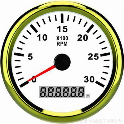 供應改裝車轉速表-柴油汽油發動機速度表-挖機速度表8KL-帶背光燈12/24V通用