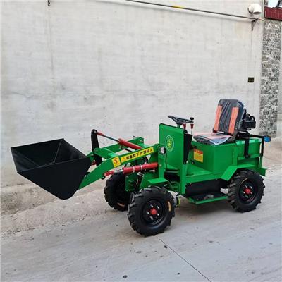 四驅電動小鏟車養殖場液壓小鏟車 電動小鏟車 四驅升降鏟車