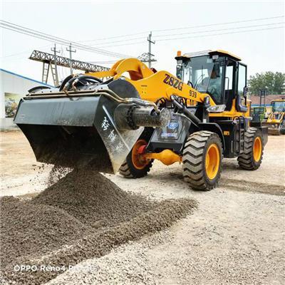 水泥攪拌鏟車新款攪拌斗裝載機省電省力D