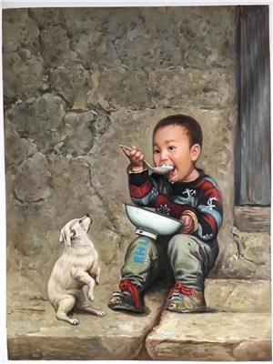 泉州肖像油画定做 儿童肖像油画